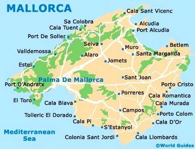 Principales ciudades y calas de Mallorca