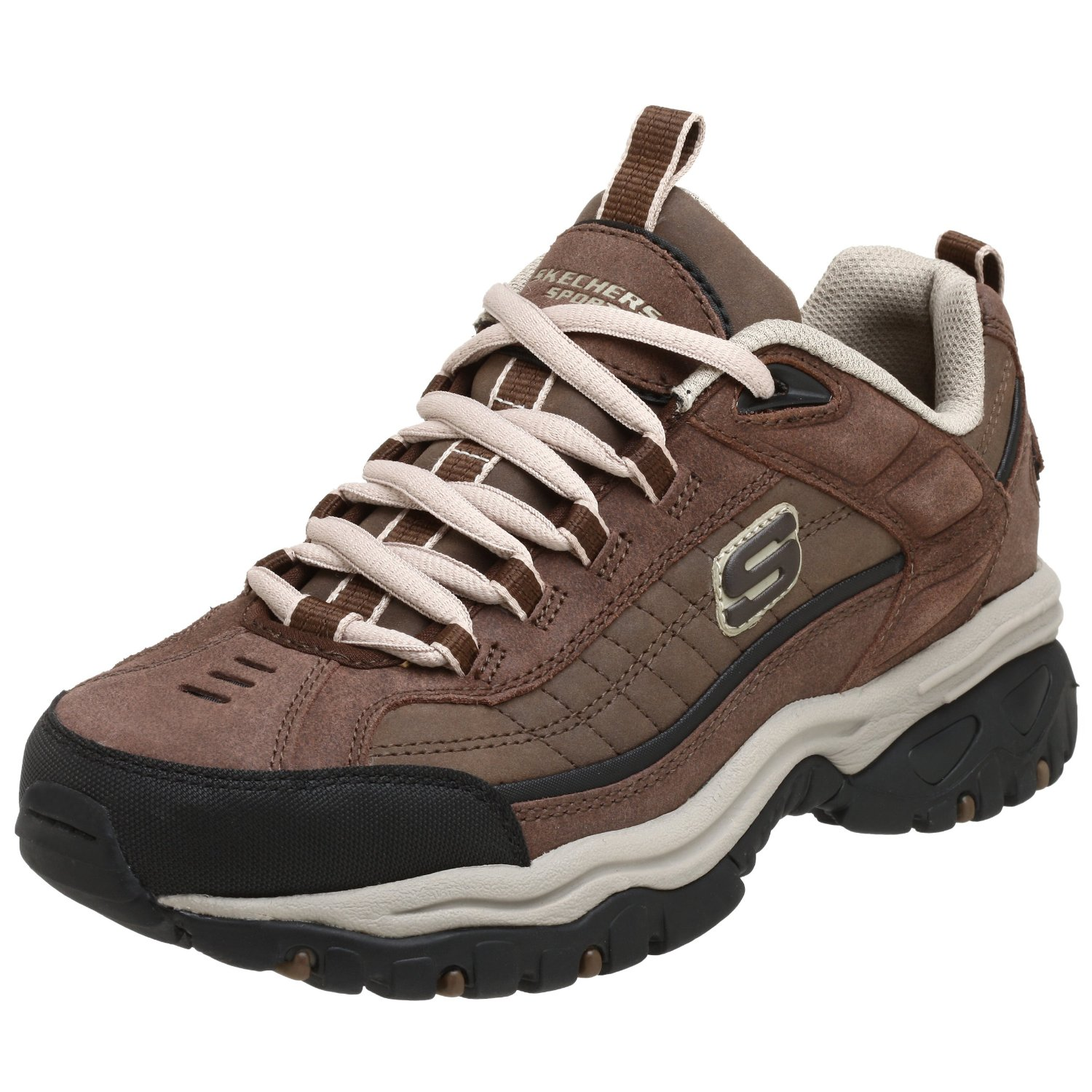 skechers s energy downforce lace up brown sneakers