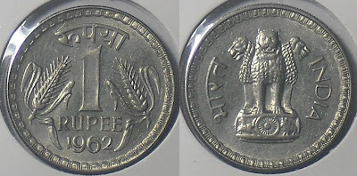 1 rupee 1962