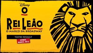 Show Rei Leão 2014 Teatro Renault