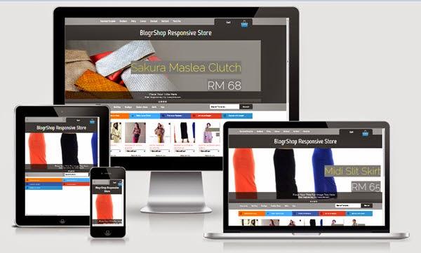 BlogrShop Responsive E-commerce Blogger Templates - Kaizentemplate ...