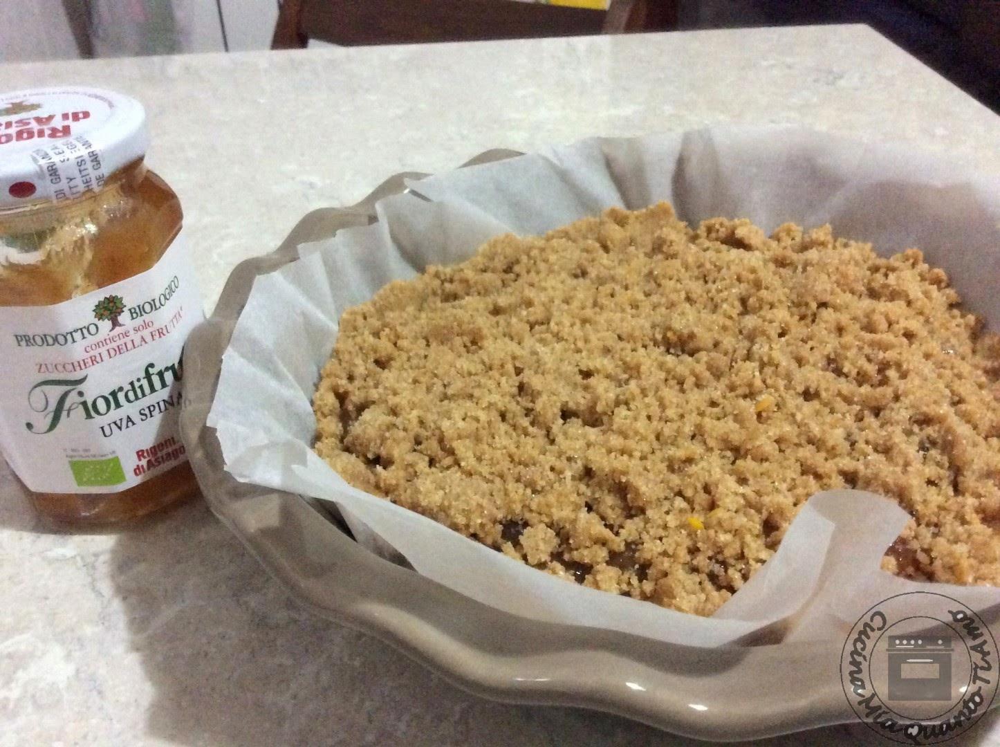 crostata con farina di farro