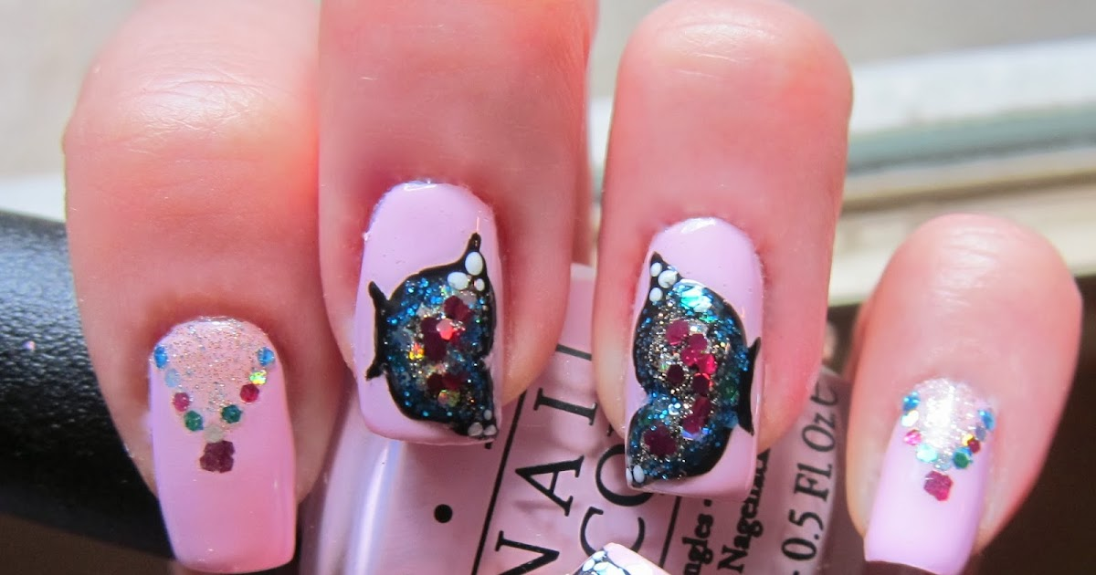 Roxanne Michelle: Nail Necklaces {With Butterflies!} K Michelle 2013
