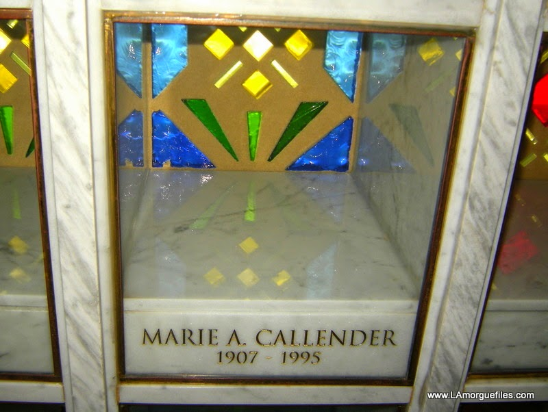 Los Angeles Morgue Files Restaurateur Marie Callender 1995 Crystal Cathedral Cemetery