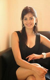 Actress Supriya Sailaja Latest  Pictures in Black Dress at BIG FM  0087.jpg