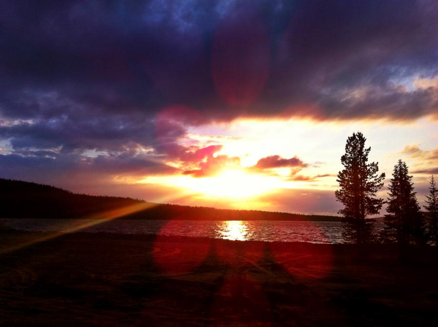 Заполярье, Мончегорск, северная природа, рыбалка, блог, Имандра, закат, озеро, закат на имандре