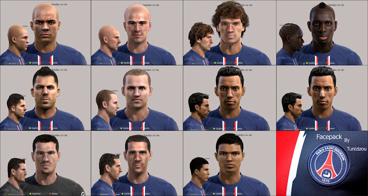 PES 2012 Paris Facepack by Tunizizou