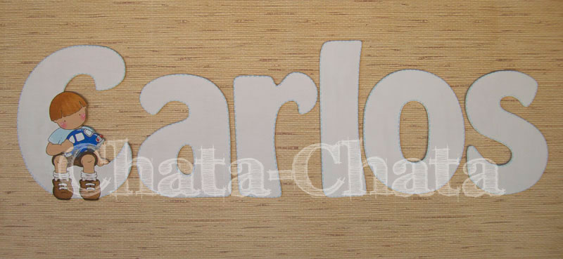 Chata chata decoraci n infantil letras para la pared - Letras adhesivas para pared ...