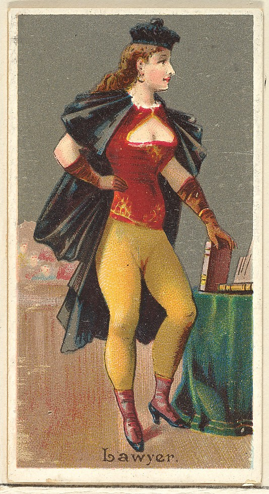 "Lawyer. Vintage tobacco card ""Occupations For Women"", via ellomennopee"