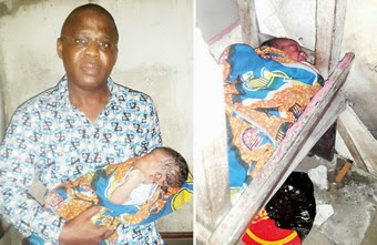 Photos: 2-day old baby boy found abandoned on Lagos street 1