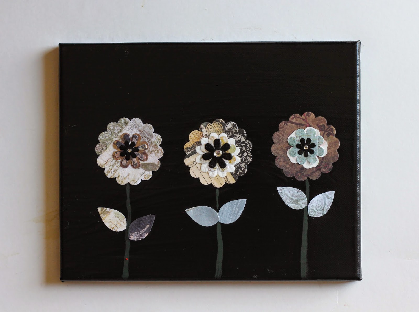 Where Your Treasure Is Paper Flowers On Canvas