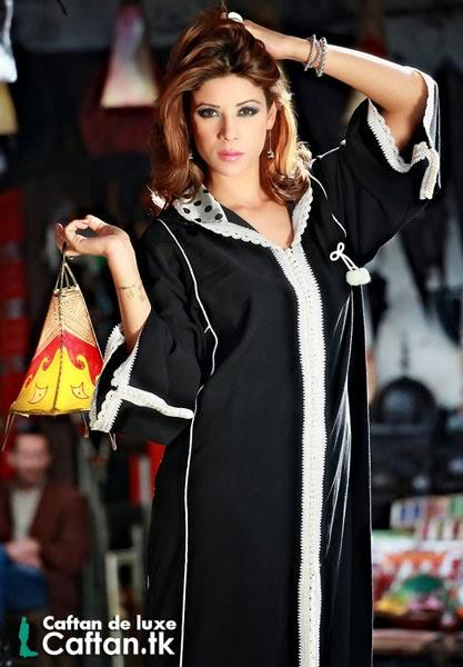 Djellaba haute couture noir 2014
