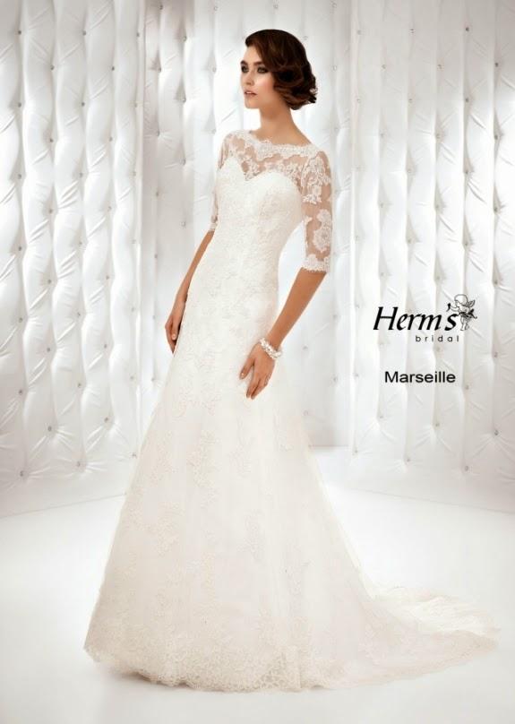 Suknie ślubne Vestido Koronkowa Suknia ślubna Herms Model Marseille