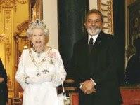 Lula e a Rainha da Inglaterra. Nação que é a mais beneficiada com a demarcação em Roraima