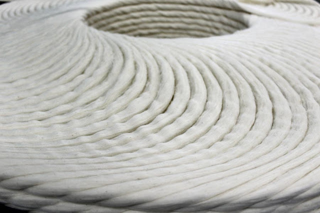 patterns formed by whirling threads in a cotton mill