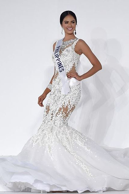 Filipino made national costume evening gown for miss for International wedding dress designers