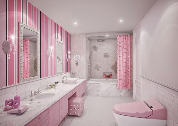 desain kamar mandi hello kitty minimalis 2015