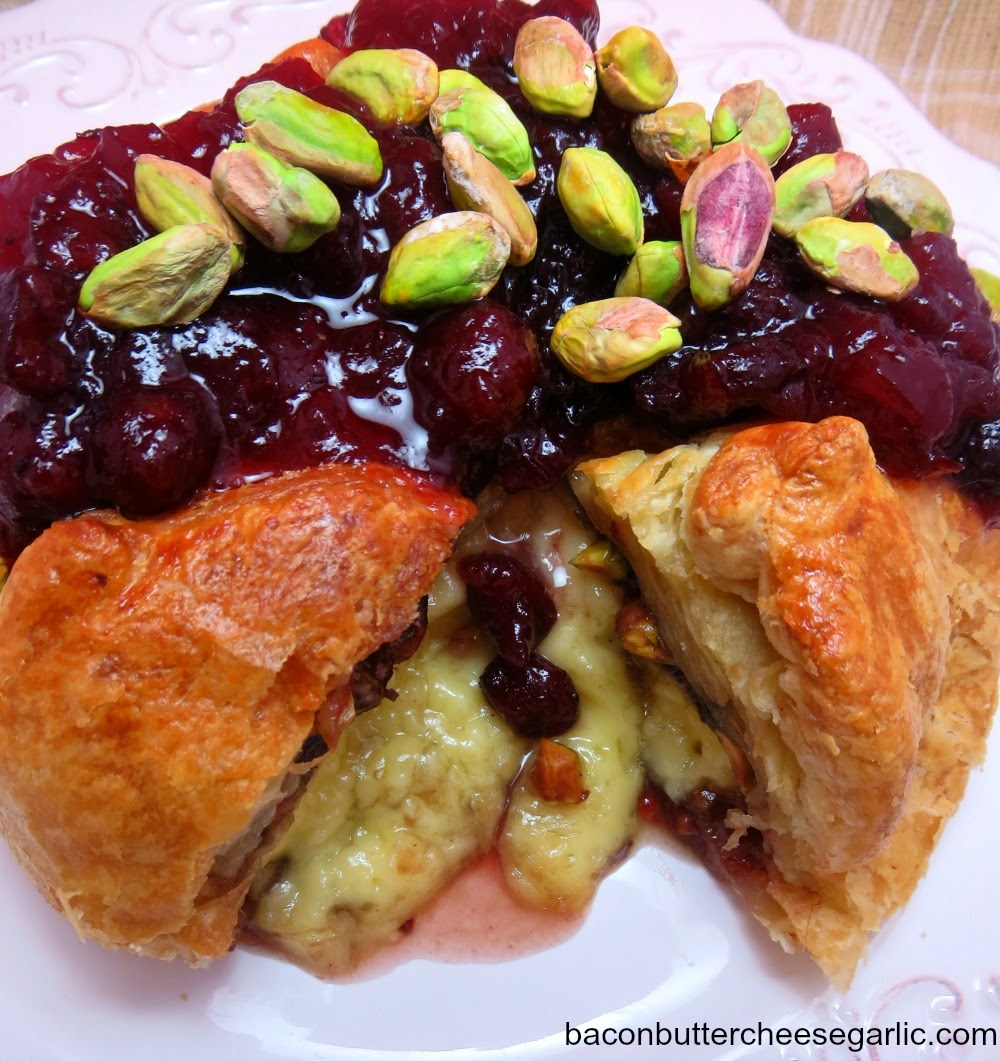 Baked Brie with Cranberries & Pistachios