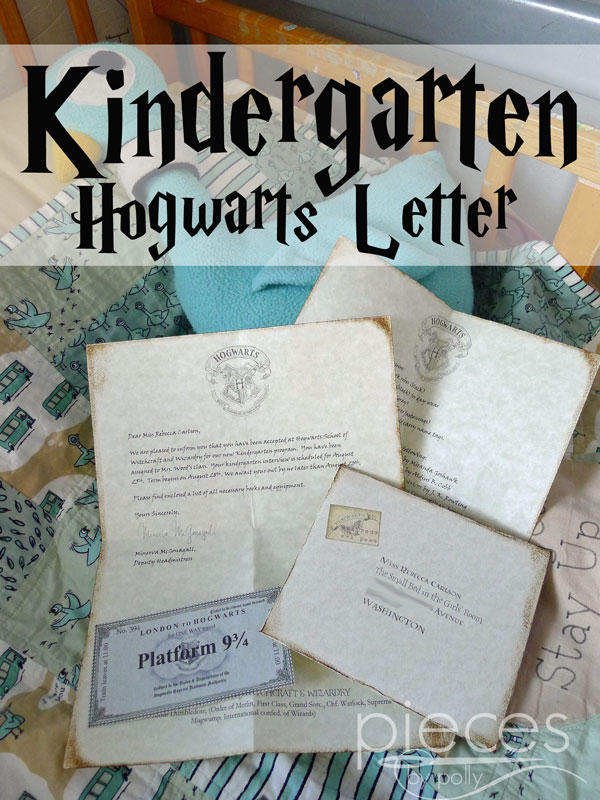 and when the mom of one of beccas friends asked for a hogwarts letter for her kindergartener i figured that becca would like one too