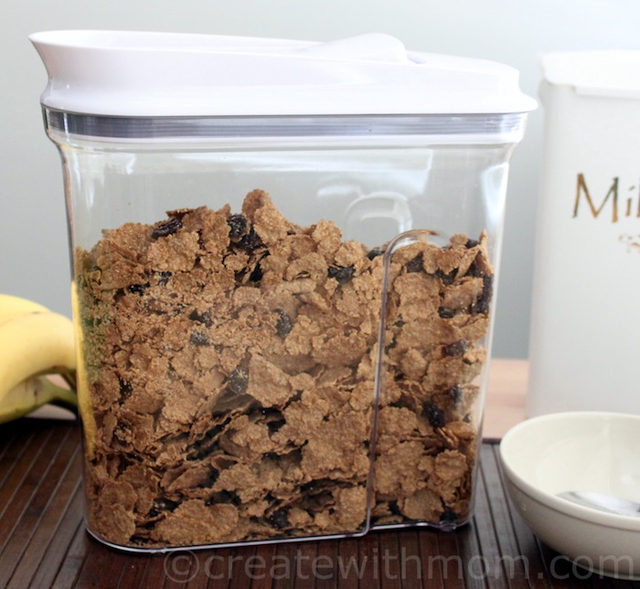 Create with mom oxo pop cereal dispenser and greensaver i love this oxo pop cereal dispenser it comes in 3 sizes 23l 32l 42l to meet our storage needs the one handed pop open lid makes this a perfect ccuart Image collections