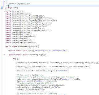 Modify Xml File In Java Using Dom Parser Raju Blog