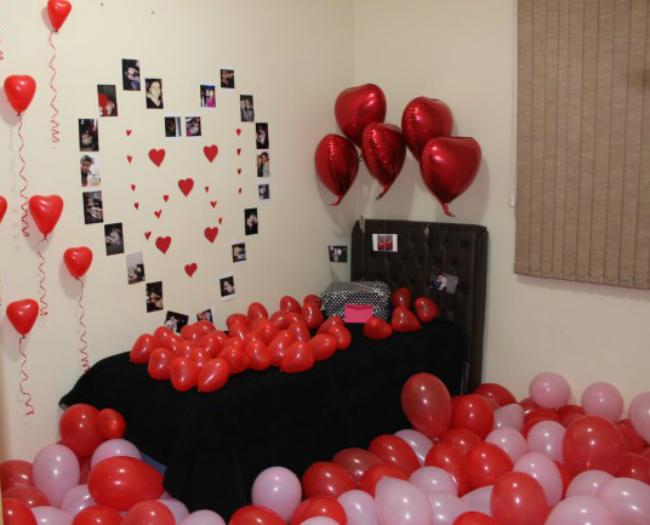Decoração de quarto para dia dos namorados Presentes De  ~ Quarto Romantico Para Namorado