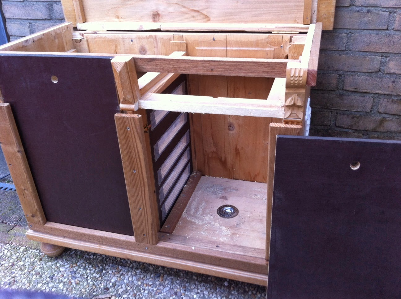 Le Compostier: Wormenbak, met horizontale migratie, dhz