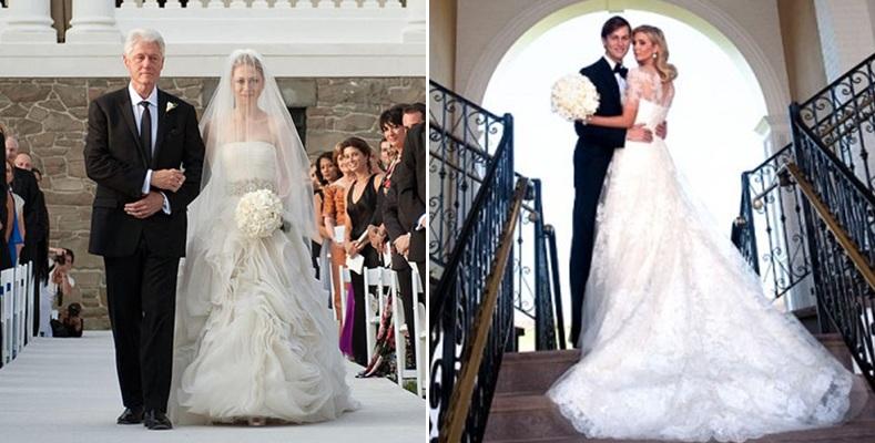 Vera Wang Dress Left Chelsea Clinton With Wedding
