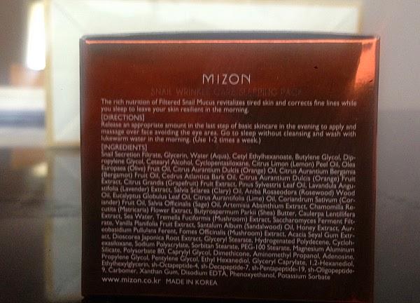 Mizon Snail Wrinkle Care Sleeping Pack Ingredients Urban Outfitters