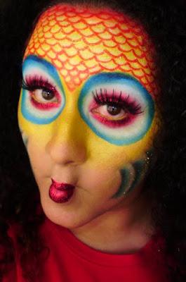 maquillaje de pez