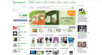 Homepage Tokopedia.com
