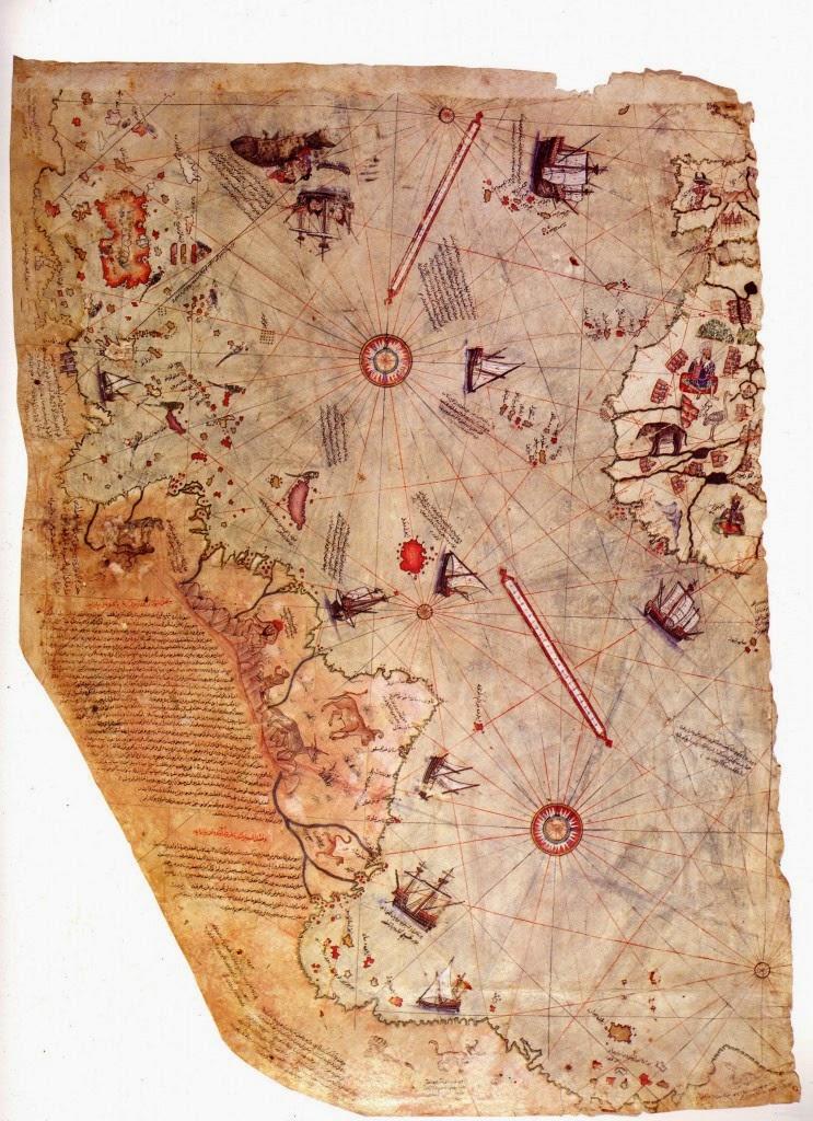 Piri Reis Map of The World Pre-Continental Split