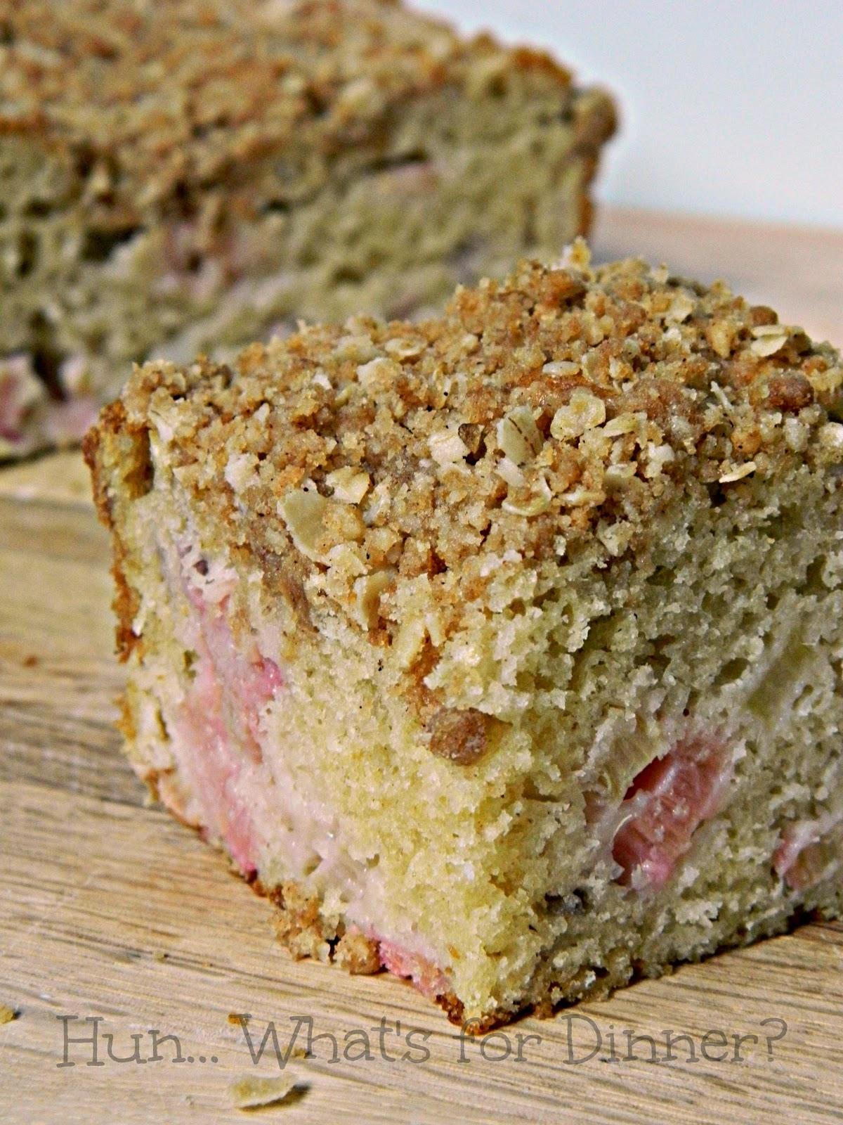 Hun... What's for Dinner? | Rhubarb Coffee Cake