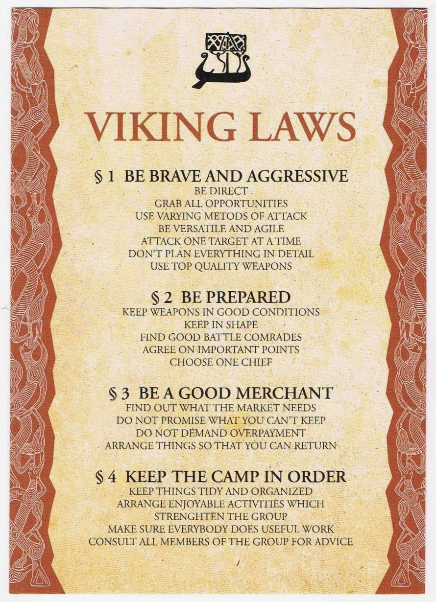 Reader Wil: ABC Wednesday, V for Viking Law