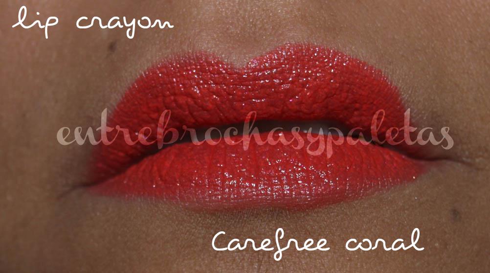 lip crayon carefree coral