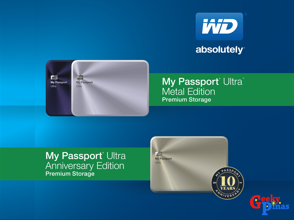WD Passport Ultra Metal Edition & Ultra Anniversary Edition!