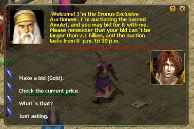Eudemons Online weekened Auction event