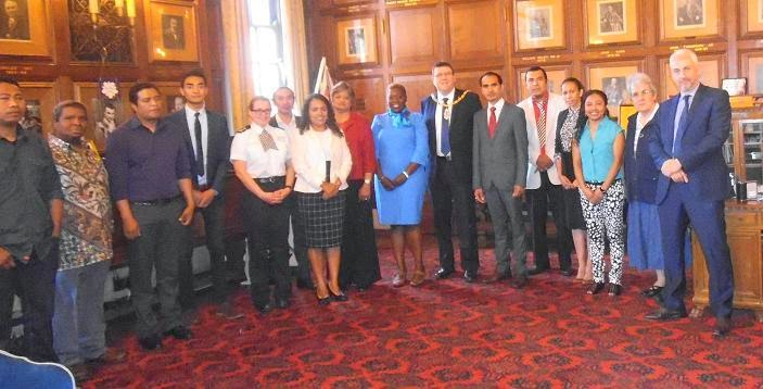 The ET Ambassador in UK Mr. J. Fonseca had met Deputy Mayor of Peterborough Cllr Chris Harper