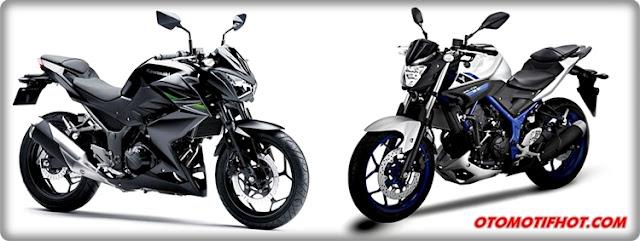 """Perbedaan Spesifikasi Teknis """"Naked Bike"""" Yamaha MT-25 dan Kawasaki Z250"""