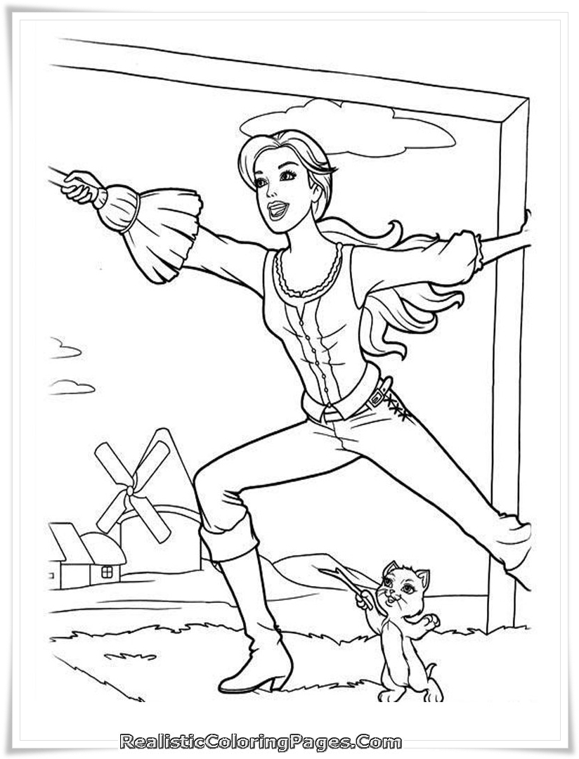 Coloring Pages Barbie And The Three Musketeers : Barbie and the three musketeers coloring pages realistic