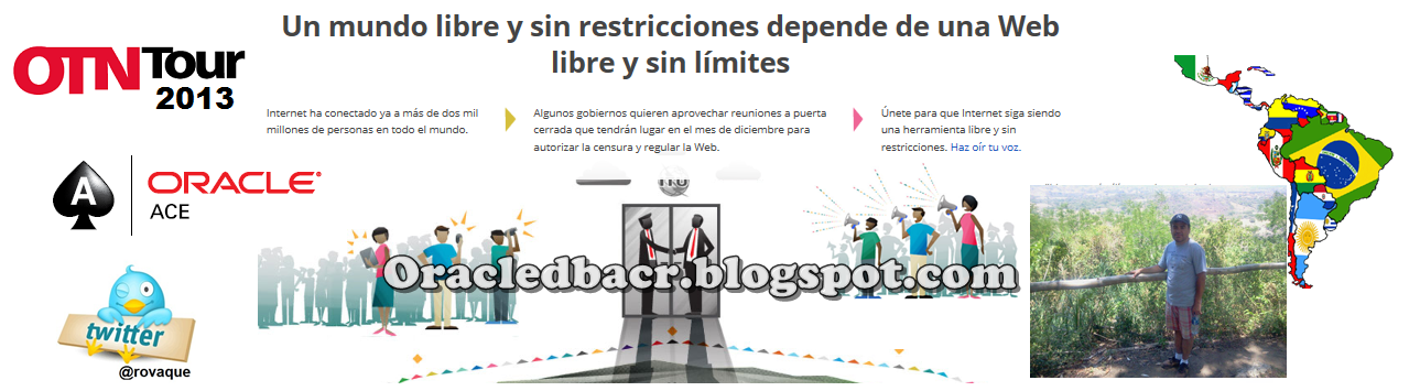 Oracledbacr, por simple pasin ...-Copyleft Miembro Comunidad Tecnolgica de Oracle Latinoamrica