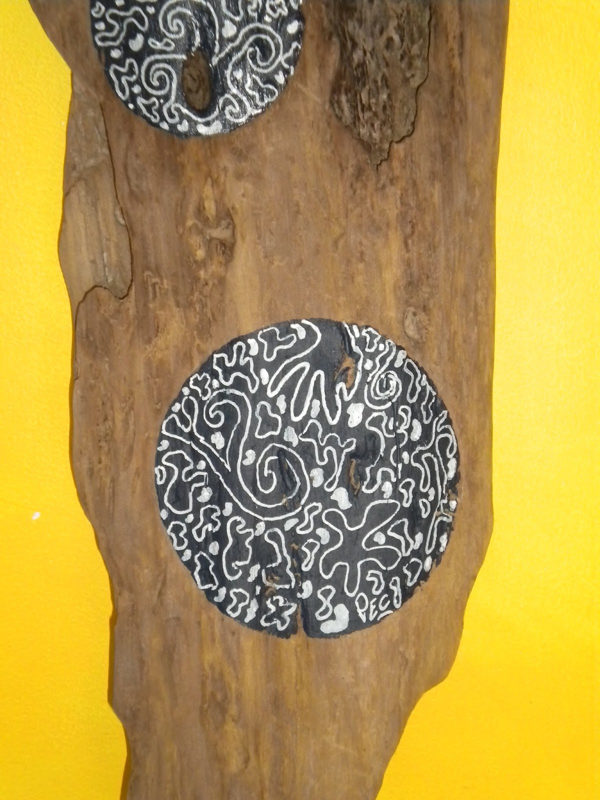 Latelierdepec juillet 2013 for Peinture sur bois flotte