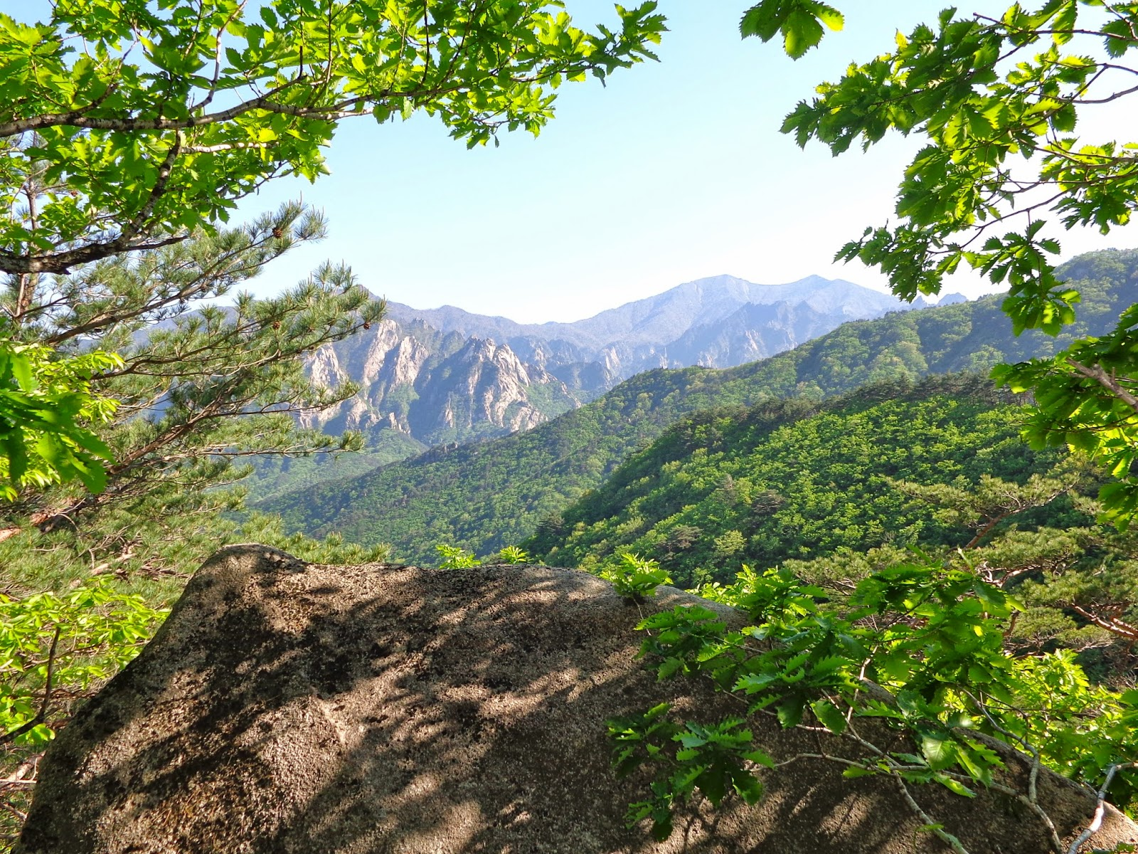 Hiking in Seoraksan National Park, South Korea