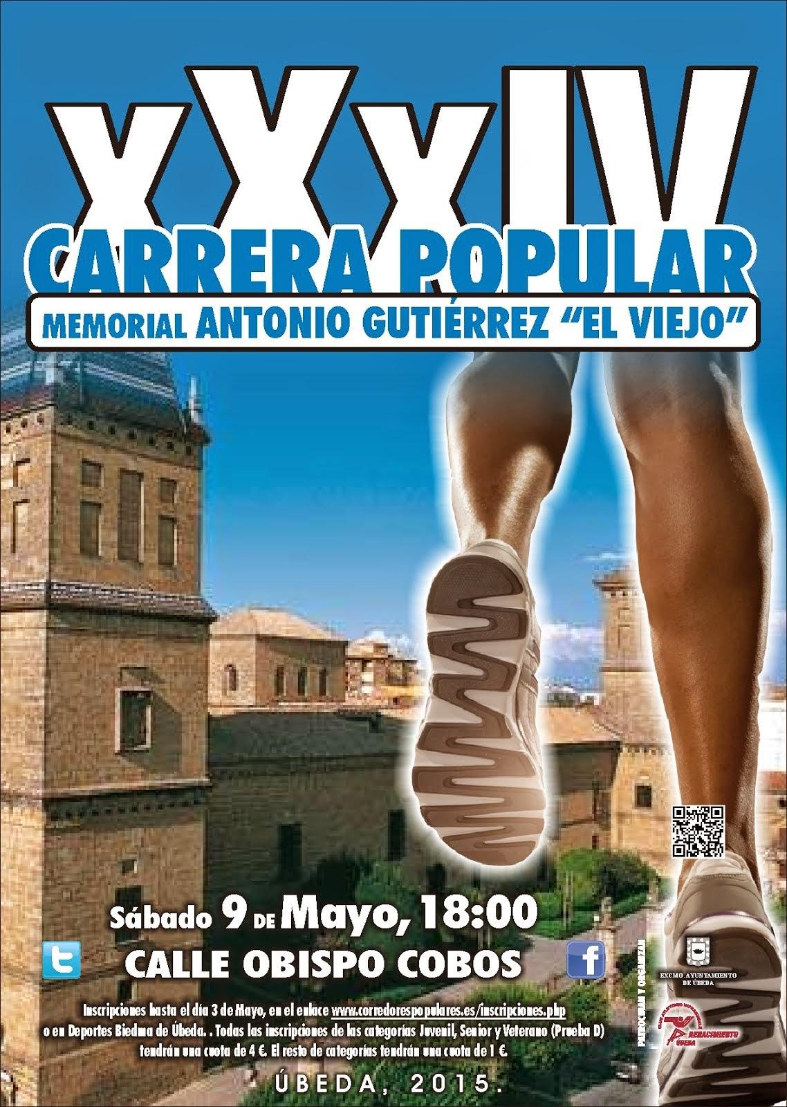 """Cartel de la XXXIV Carrera Urbana """"El Viejo"""""""