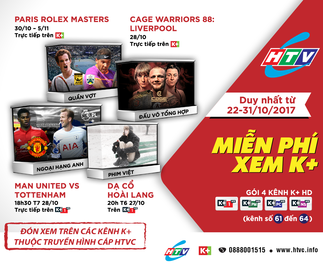 Truyền hình K+ trên HTVC