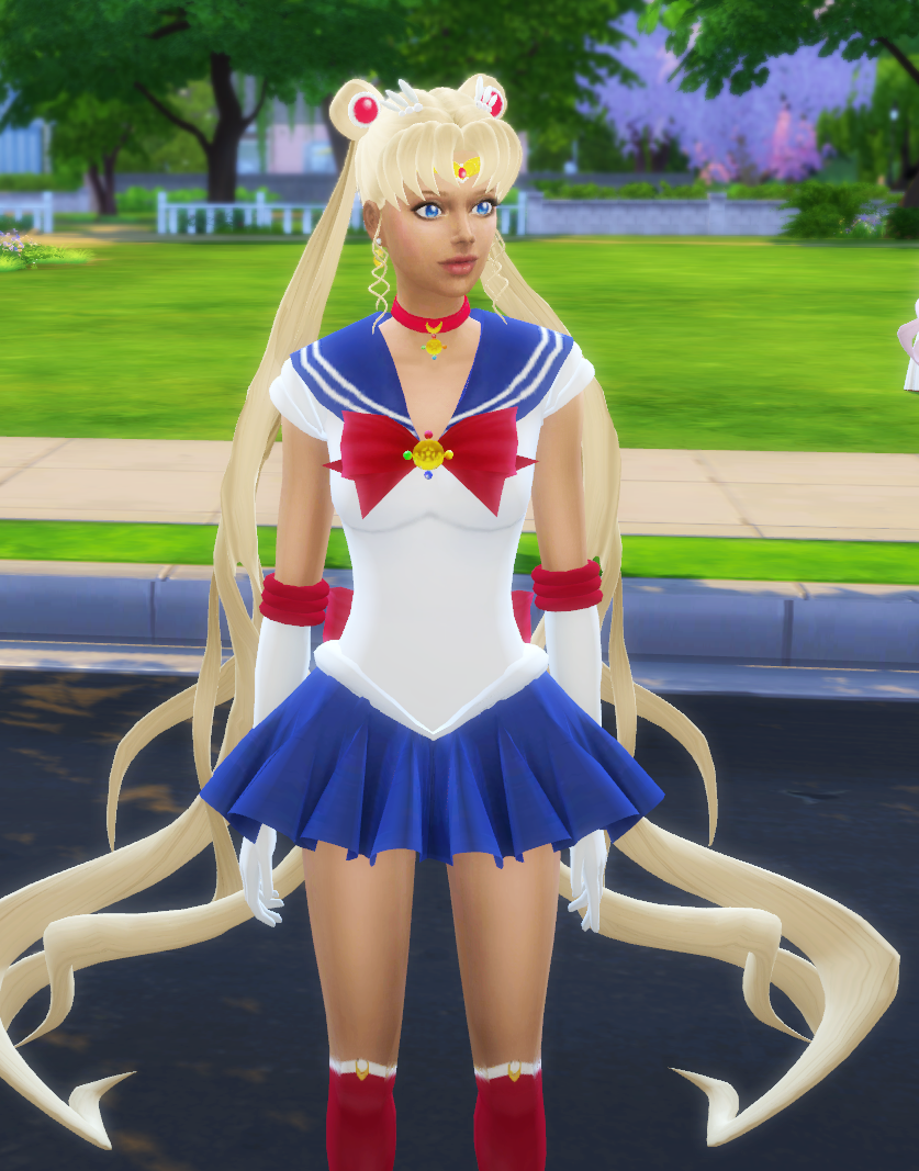 Sims 4 sailor moon dress hair silvermoon sims