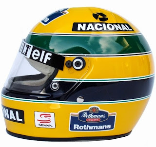 Il mitico casco di Ayrton Senna