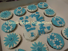 Cupcake Hantaran (fondant)