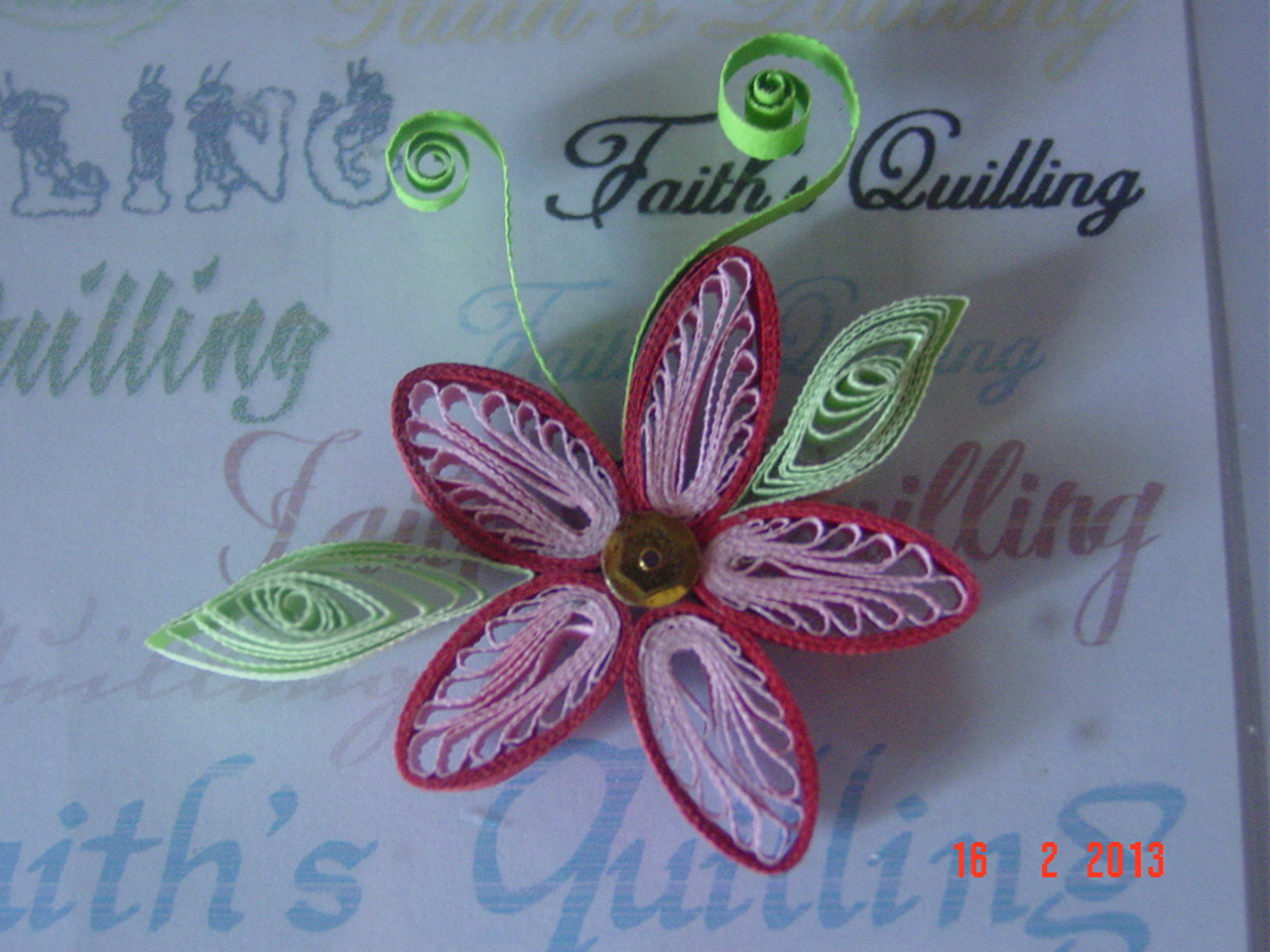 Faith 39 s quilling quilled flowers for Quilling paper craft