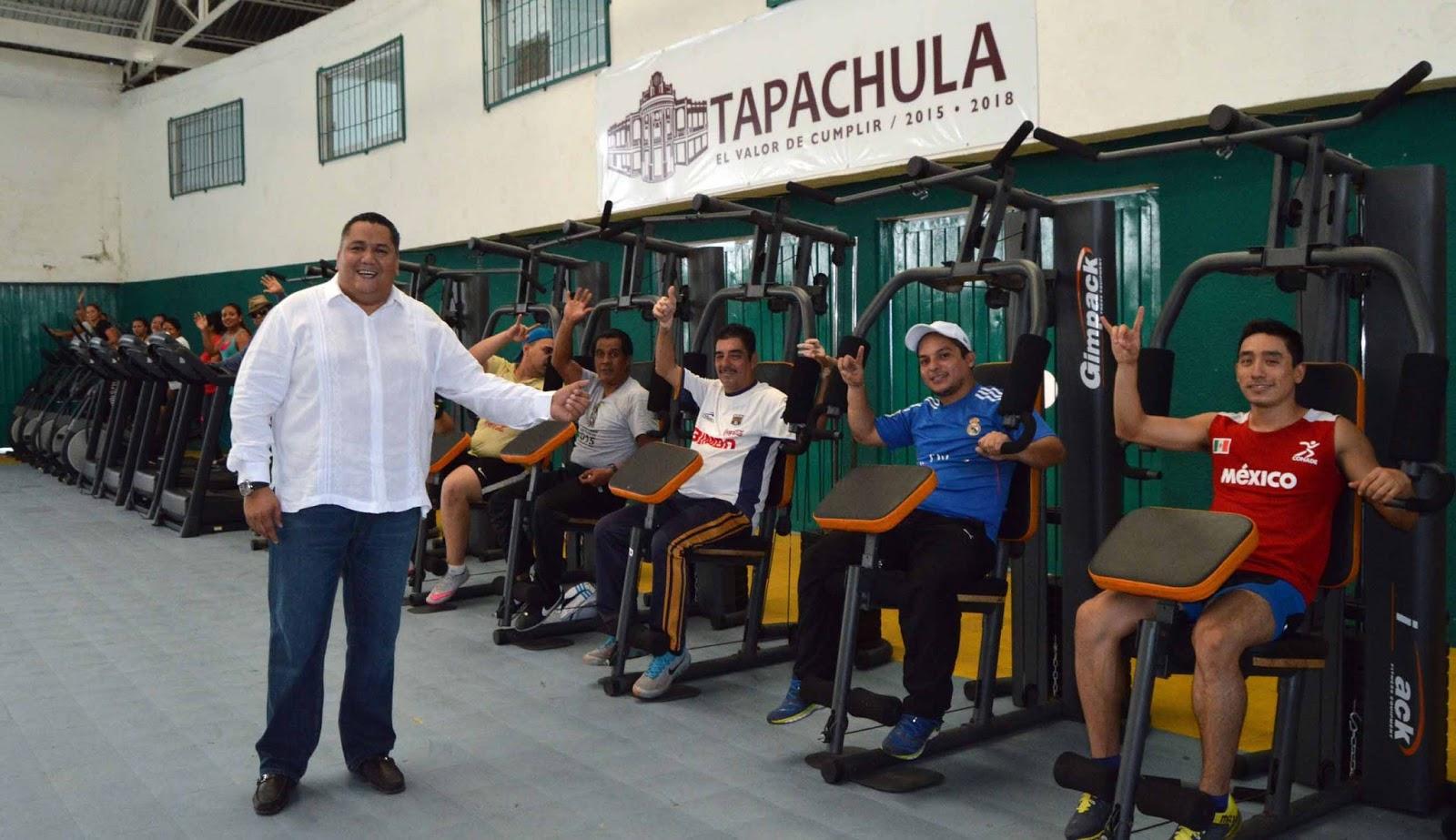 Periodistas frontera sur neftal del toro pone en marcha for Gimnasio del centro